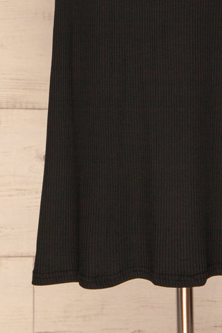 Sauville Black Party Dress | Robe Noire | La Petite Garçonne bottom close-up