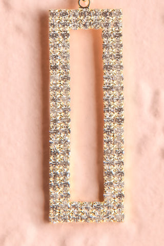 Shoelcher Gold Statement Crystal Pendant Earrings bottom close-up | Boutique 1861