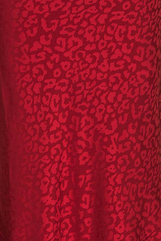 Seefeld Cerise Red Leopard Print Slip Dress | La Petite Garçonne fabric close up