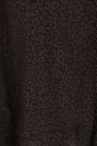 Seefeld Mure Black Leopard Print Slip Dress fabric close up | La Petite Garçonne