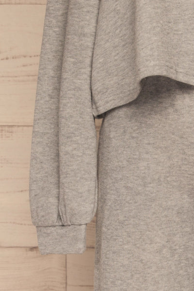 Set Flauro Grey Crop Top & Pants | La petite garçonne sleeve