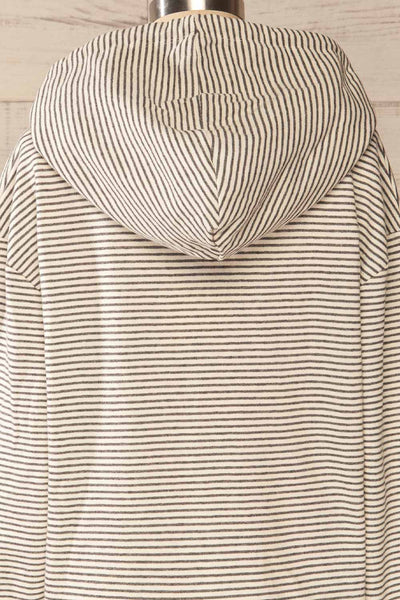 Set Radomko Grey Striped Lounge Set | La petite garçonne top back close-up
