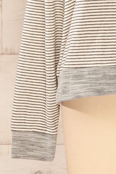 Set Radomko Grey Striped Lounge Set | La petite garçonne top sleeve