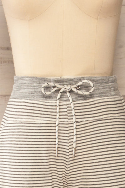 Set Radomko Grey Striped Lounge Set | La petite garçonne front close-up