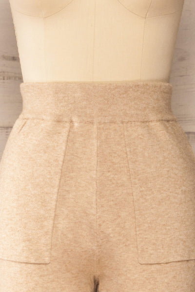 Kaunas Beige Cozy Lounge Set | La petite garçonne  front close-up