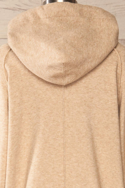 Kaunas Beige Cozy Lounge Set | La petite garçonne  top back close-up