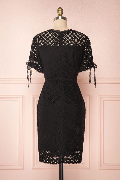 Shalonda Black Lace Cocktail Dress | Robe back view | Boutique 1861