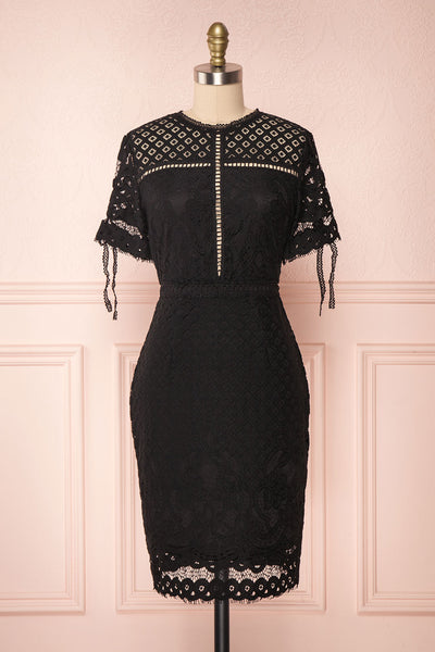 Shalonda Black Lace Cocktail Dress | Robe | Boutique 1861