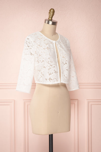 Shifumi White Lace Crop Jacket | Boudoir 1861 3