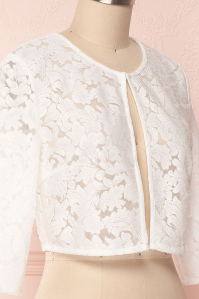 Shifumi White Lace Crop Jacket | Boudoir 1861 4
