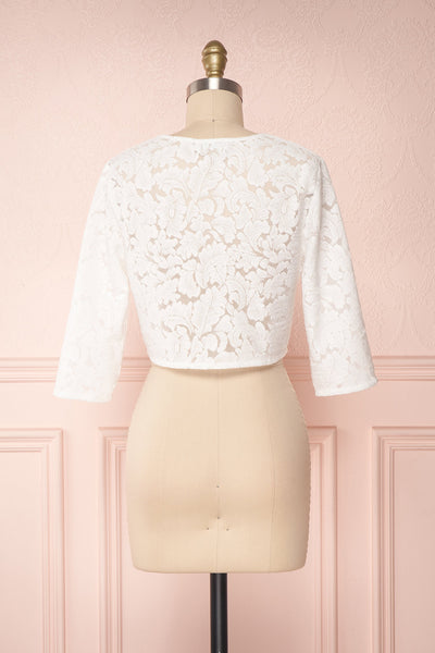 Shifumi White Lace Crop Jacket | Boudoir 1861 5