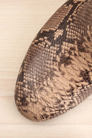 Shilo Python Patterned Ankle Boots with Heel flat lay close-up | La Petite Garçonne