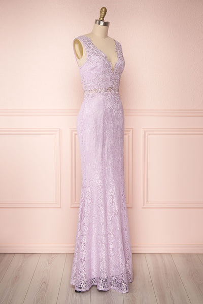 Shizko Lilac | Lace Mermaid Gown