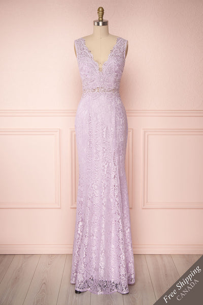 Shizko Lilac Purple Lace Mermaid Gown | Boudoir 1861