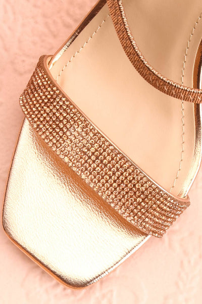 Simart Rosegold Slip-On Sandal Heels | Talons | Boutique 1861 flat close-up