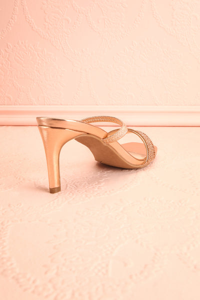 Simart Rosegold Slip-On Sandal Heels | Talons | Boutique 1861 back back view