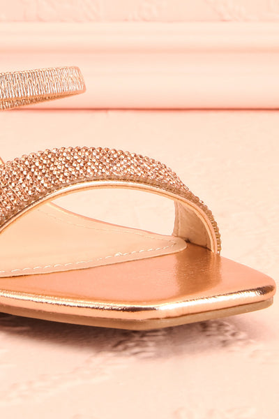 Simart Rosegold Slip-On Sandal Heels | Talons | Boutique 1861 front close-up