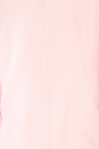 Sines Pink Puffy Sleeve Buttoned Crop Top | La petite garçonne details