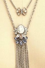Sollemnis - Silver necklace with stone and crystals