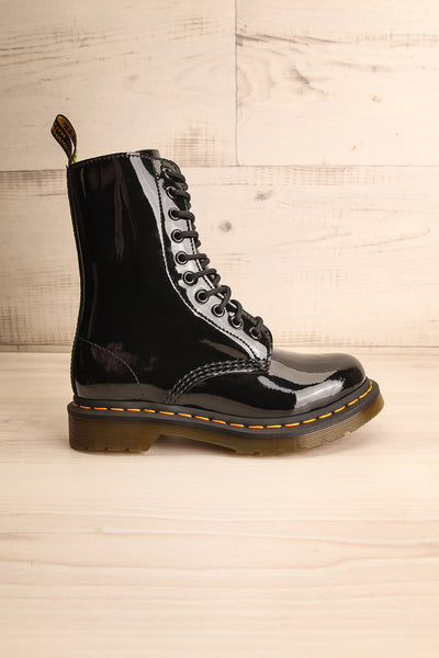 Southampton Black Dr. Martens Lace-Up Boots side view | La Petite Garçonne