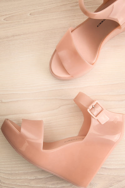 Spinoza Blush Wedge Heeled Sandals | La Petite Garçonne Chpt. 2