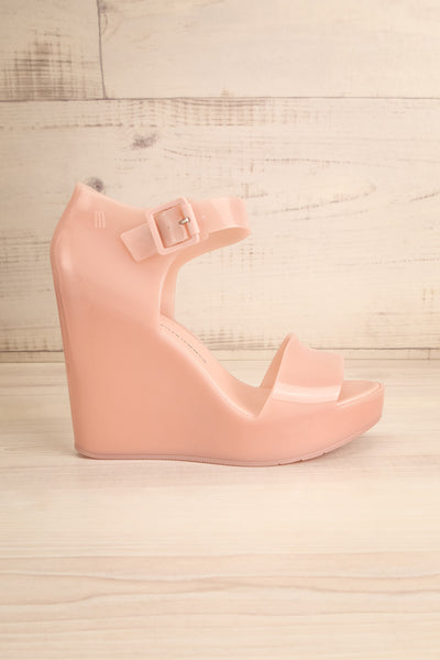 Spinoza Blush Wedge Heeled Sandals | La Petite Garçonne Chpt. 2 5