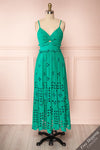 Spirea Turquoise Openwork Midi Dress | Boutique 1861
