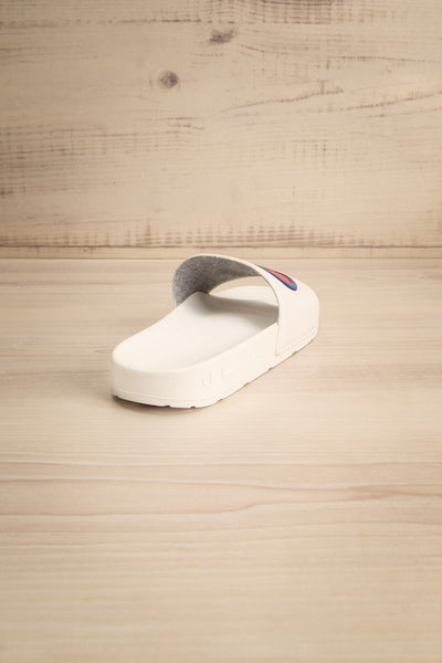 Stagnum White Sporty Slip-On Sandals | La Petite Garçonne 6