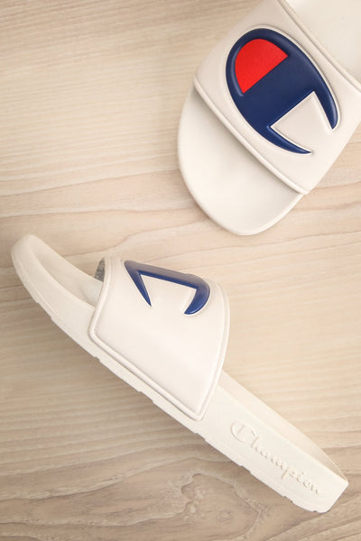 Stagnum White Sporty Slip-On Sandals | La Petite Garçonne 1