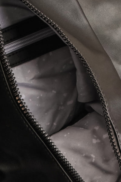 Stella Black Faux-Leather Pixie Mood Tote Bag inside close-up | La Petite Garçonne