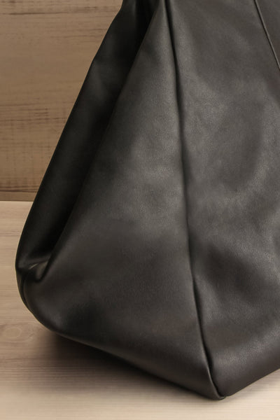 Stella Black Faux-Leather Pixie Mood Tote Bag side close-up | La Petite Garçonne