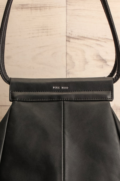 Stella Black Faux-Leather Pixie Mood Tote Bag close-up | La Petite Garçonne