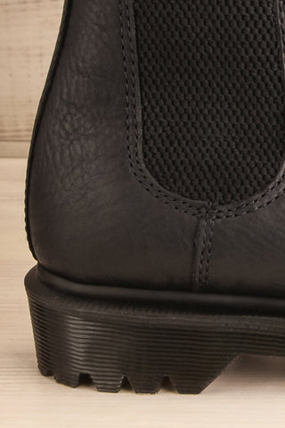 Stirling Black Dr. Martens Chelsea Boots side back close-up | La Petite Garçonne