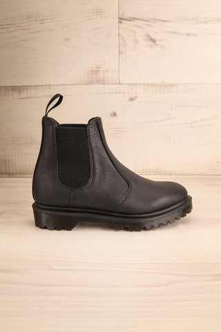 Stirling Black Dr. Martens Chelsea Boots side view | La Petite Garçonne