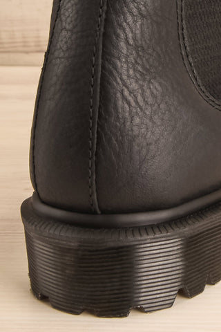 Stirling Black Dr. Martens Chelsea Boots back close-up | La Petite Garçonne