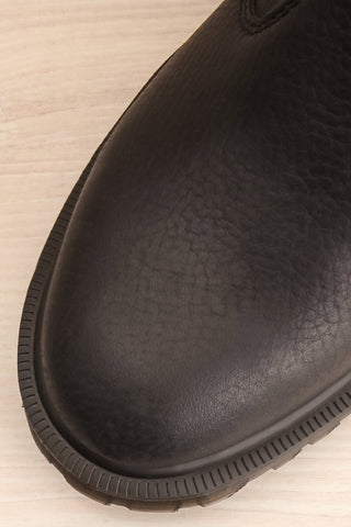 Stirling Black Dr. Martens Chelsea Boots flat lay close-up | La Petite Garçonne
