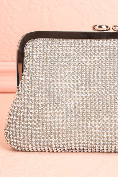 Strathspey Argent Silvery Snap Clutch Bag with Crystals | Boudoir 1861 5