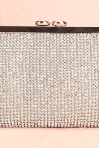Strathspey Argent Silvery Snap Clutch Bag with Crystals | Boudoir 1861 3