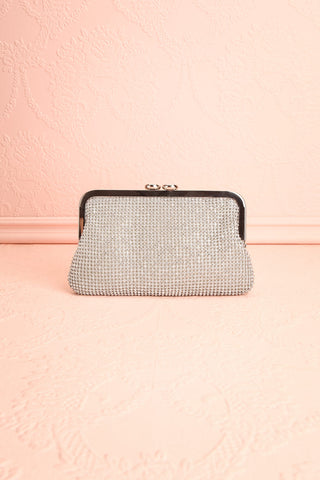 Strathspey Argent Silvery Snap Clutch Bag with Crystals | Boudoir 1861 4