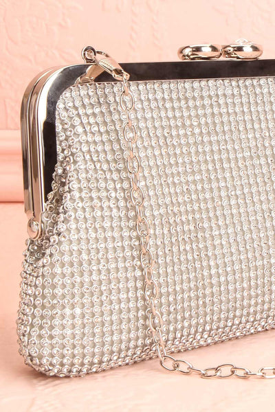 Strathspey Argent Silvery Snap Clutch Bag with Crystals | Boudoir 1861 6