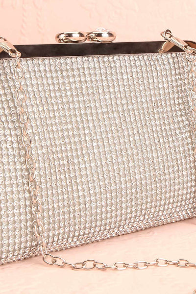 Strathspey Argent Silvery Snap Clutch Bag with Crystals | Boudoir 1861 7