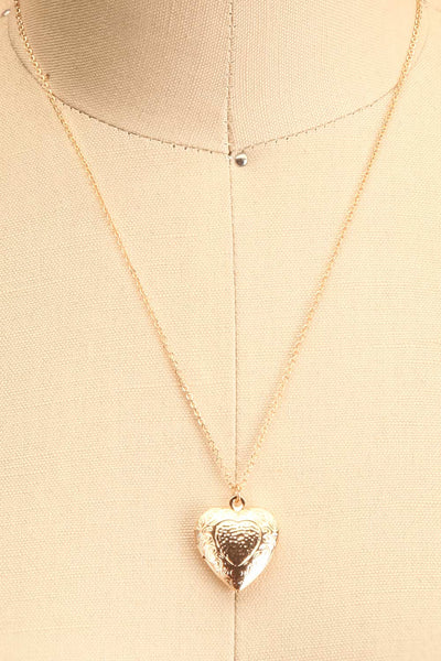 Suffero Doré Gold Heart Locket Pendant Necklace | Boutique 1861 7