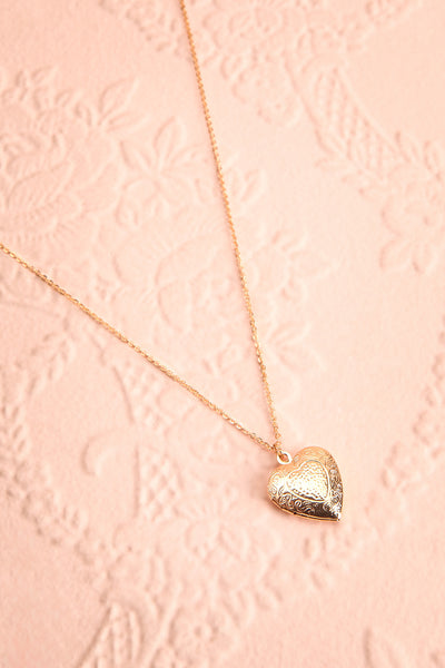 Suffero Doré Gold Heart Locket Pendant Necklace | Boutique 1861 1