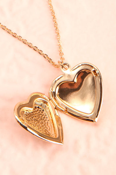 Suffero Doré Gold Heart Locket Pendant Necklace | Boutique 1861 3