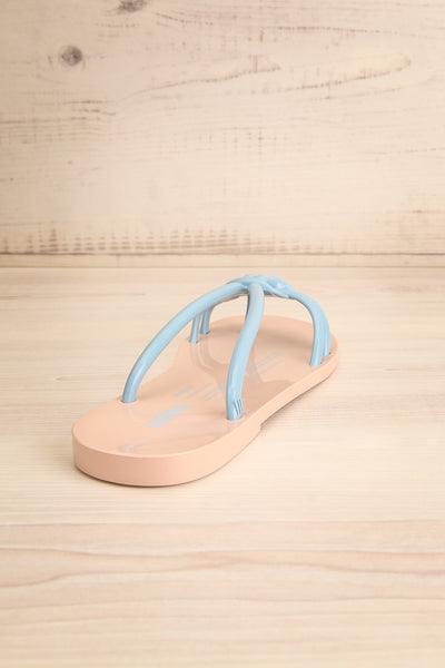Sullie Tan & Blue Slip-On Sandals | La Petite Garçonne Chpt. 2 8