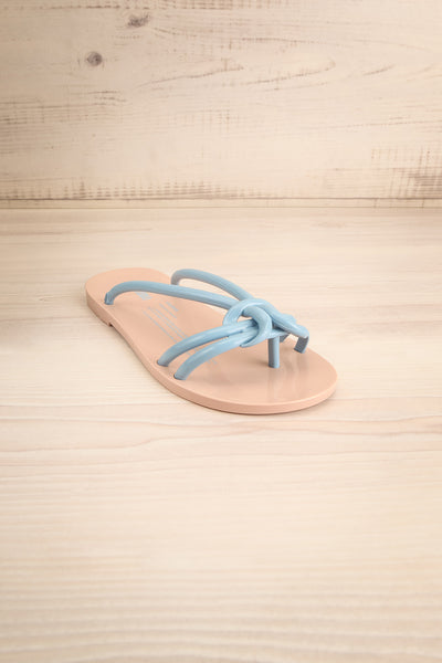 Sullie Tan & Blue Slip-On Sandals | La Petite Garçonne Chpt. 2 3