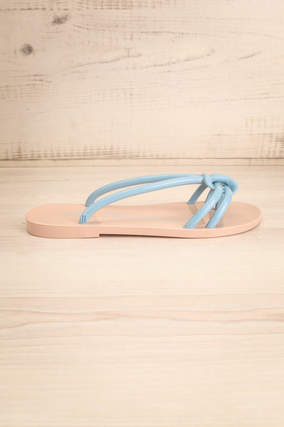Sullie Tan & Blue Slip-On Sandals | La Petite Garçonne Chpt. 2 5