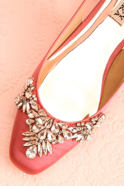 Taclet Pink Low Heel Slingback Shoes with Crystals | Boudoir 1861 2