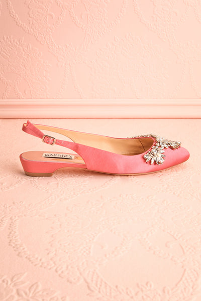 Taclet Pink Low Heel Slingback Shoes with Crystals | Boudoir 1861 5