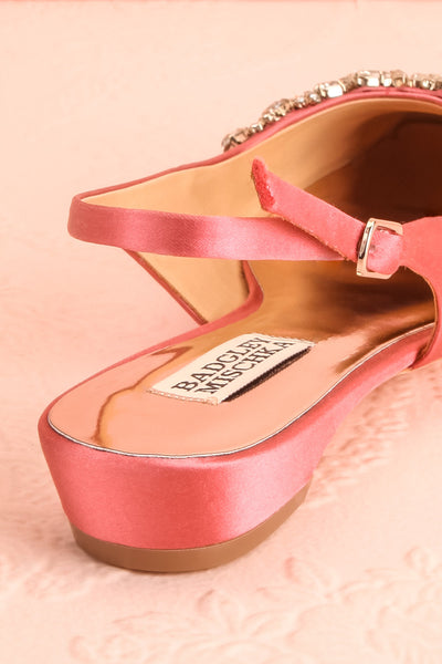Taclet Pink Low Heel Slingback Shoes with Crystals | Boudoir 1861 9